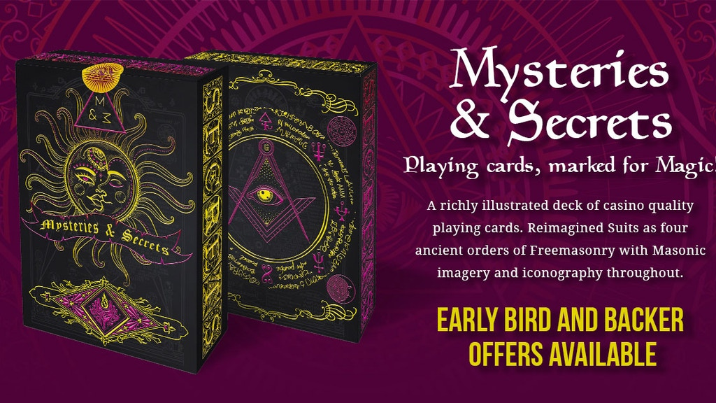 Mysteries & Secrets. Playing cards, marked for Magic