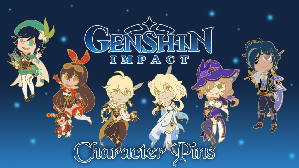 Project image for Genshin Impact Chibi Character Pins