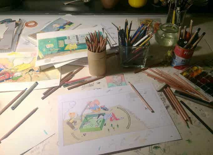 Процесс создания иллюстраций