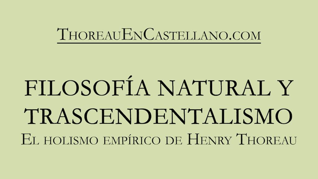 Project image for Thoreau: Filosofía natural y Trascendentalismo (Canceled)