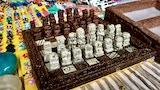 Artesanal Malachite Maya Chess Set thumbnail