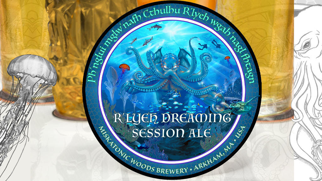 Project image for Cthulhu Art Drink Coaster 4: R'lyeh Dreaming Session Ale