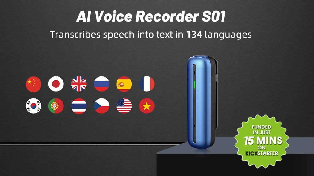Wooask S01 - World's Most Powerful AI Voice Recorder
