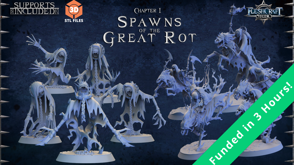 Project image for Spawns of the Great Rot - Printable stl 3d miniatures