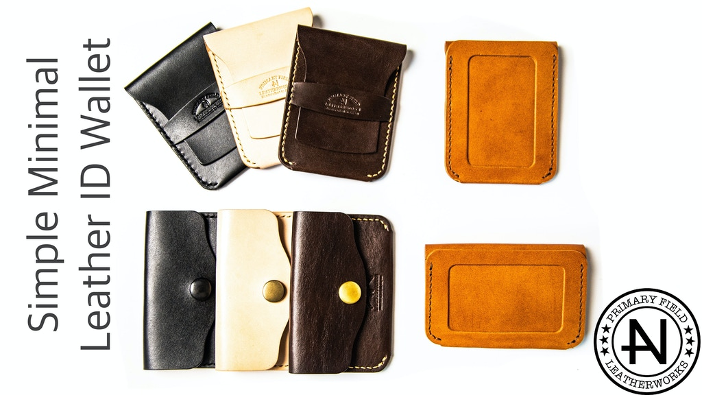 Minimal Leather ID Card Wallets
