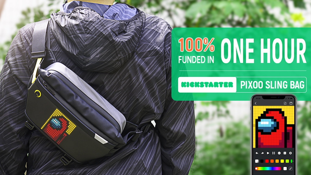 Pixoo-Slingbag | The First Smart Sling For The Urban Life