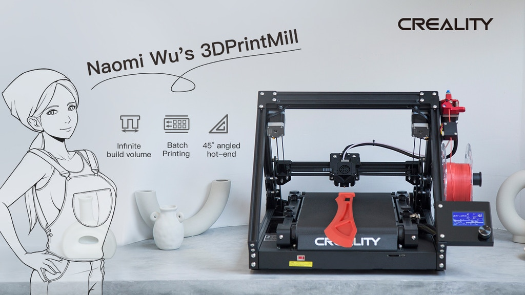 Creality 3DPrintMill(CR-30)- Belt 3D Printing For Everyone