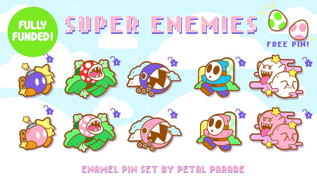 Project image for ☆Super Enemies Enamel Pins☆