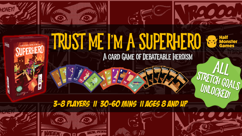 Trust Me, I'm a Superhero - A Card Game of Debatable Heroism project video thumbnail