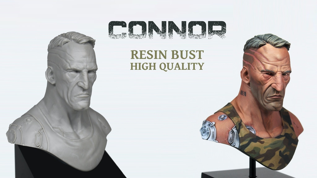 Project image for CONNOR | Resin bust - High quality