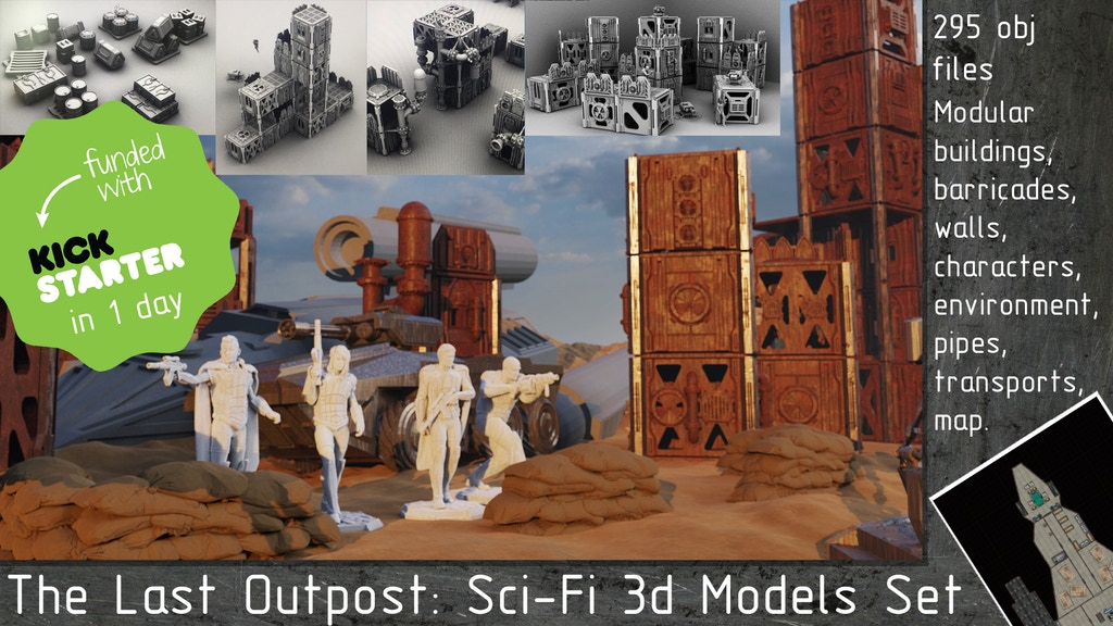 Project image for The Last Outpost: Sci-Fi 3d Models Set