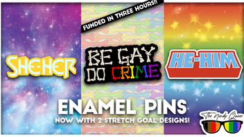 'Be Gay, Do Crime' Enamel Pin