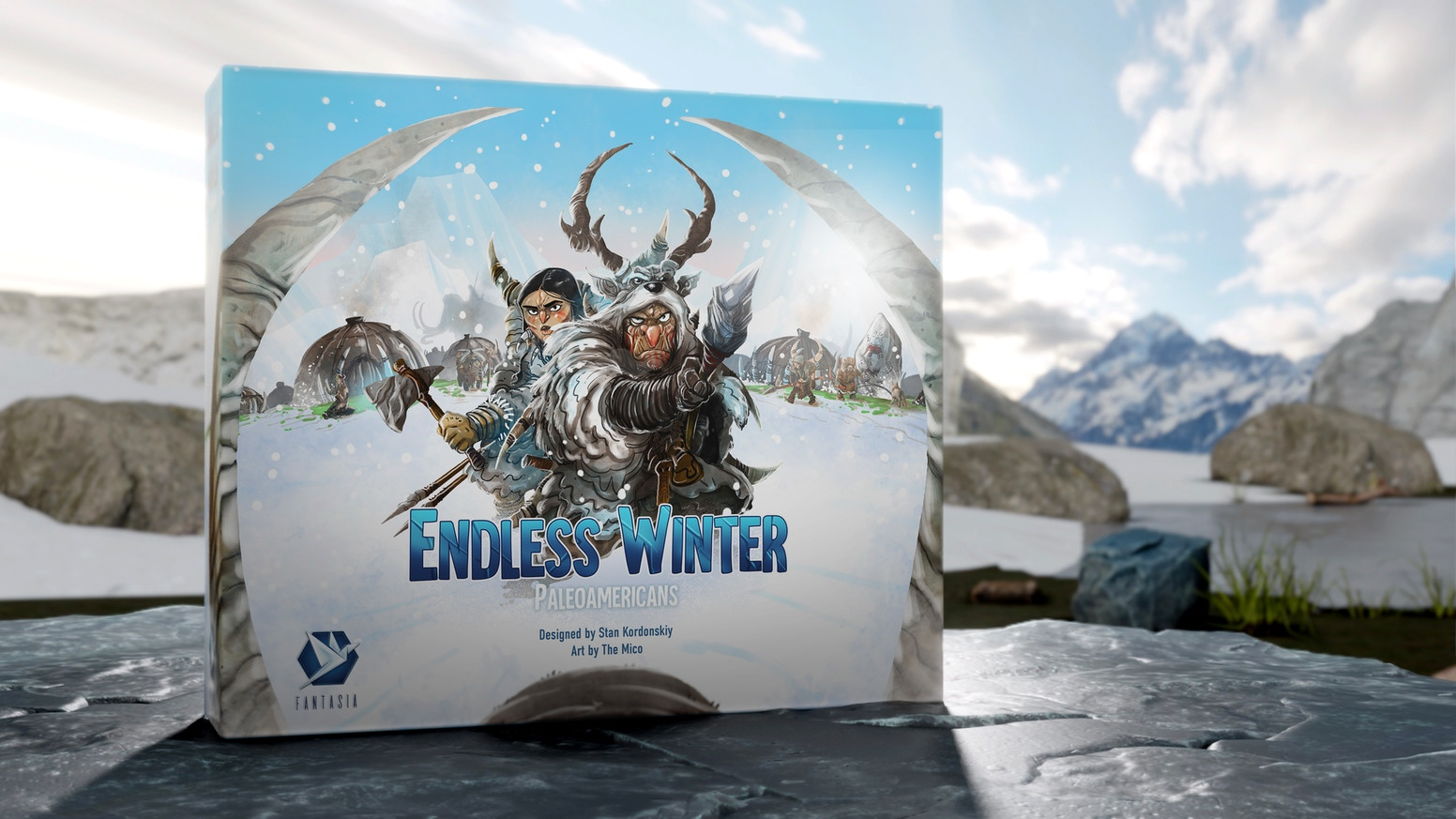 A unique board game set in the ice age that combines worker placement and deck building in an innovative way.
