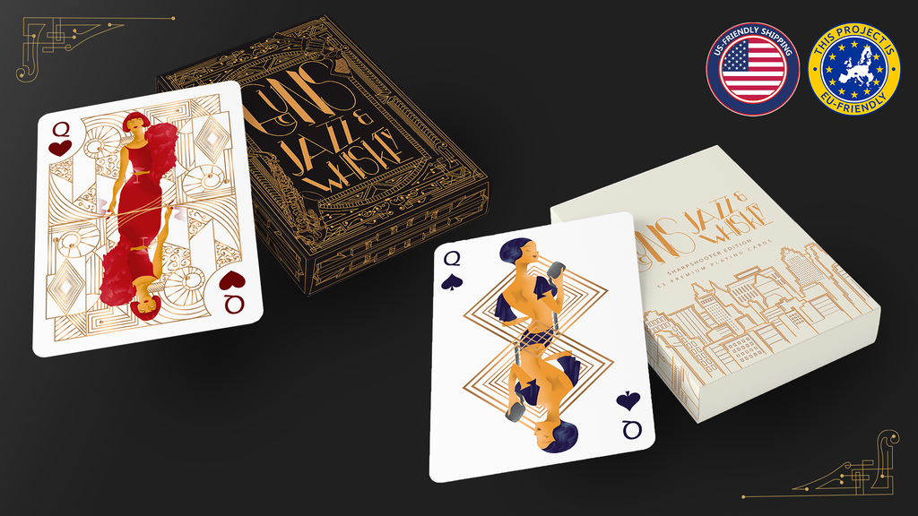 Project image for Guns, Jazz & Whiskey Playing Cards - Relaunch