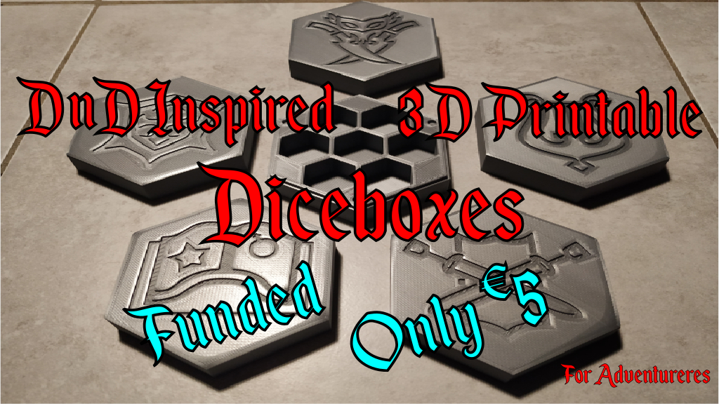 Project image for Adventure Dice Boxes - 3D Printable