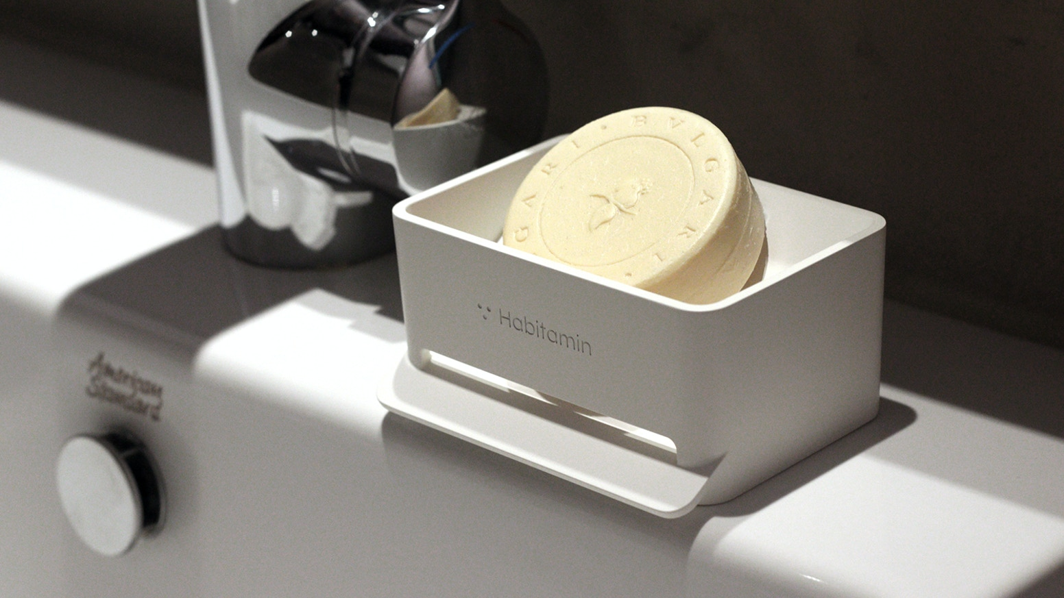 Soap mate, Slanted soap dish with self-draining & drying ...