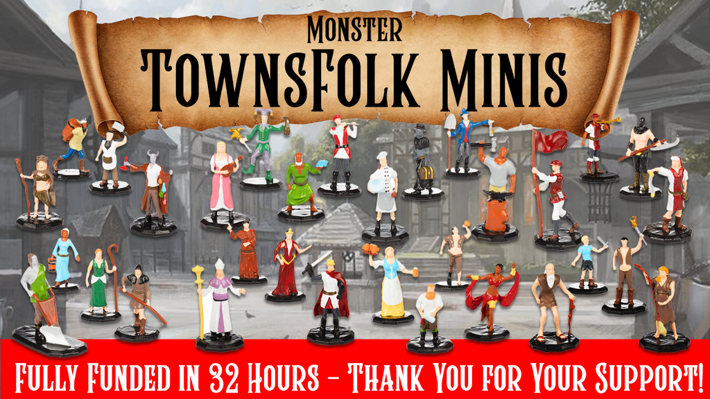 D&D Inspired TOWNSFOLK Mini Figures By Monster Gaming project video thumbnail