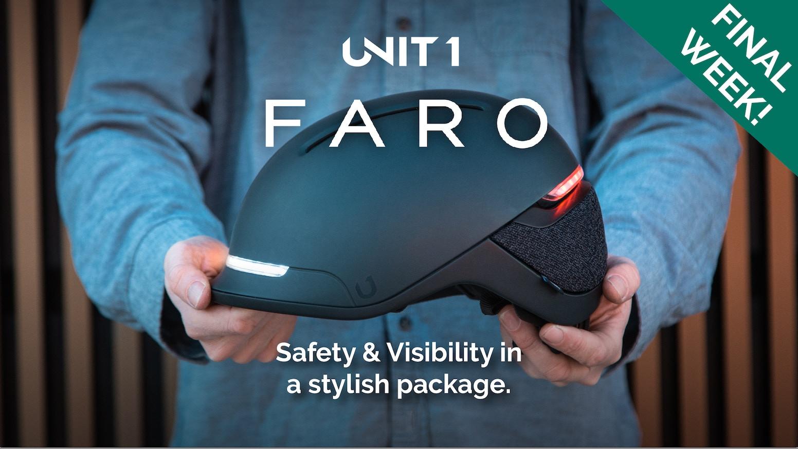FARO by UNIT 1: A Sleek, Visibility-First Smart Helmet