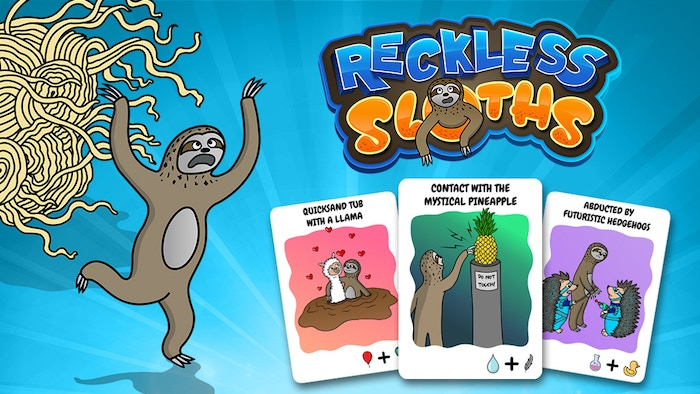 A card game about saving sloths from wacky dangers.
