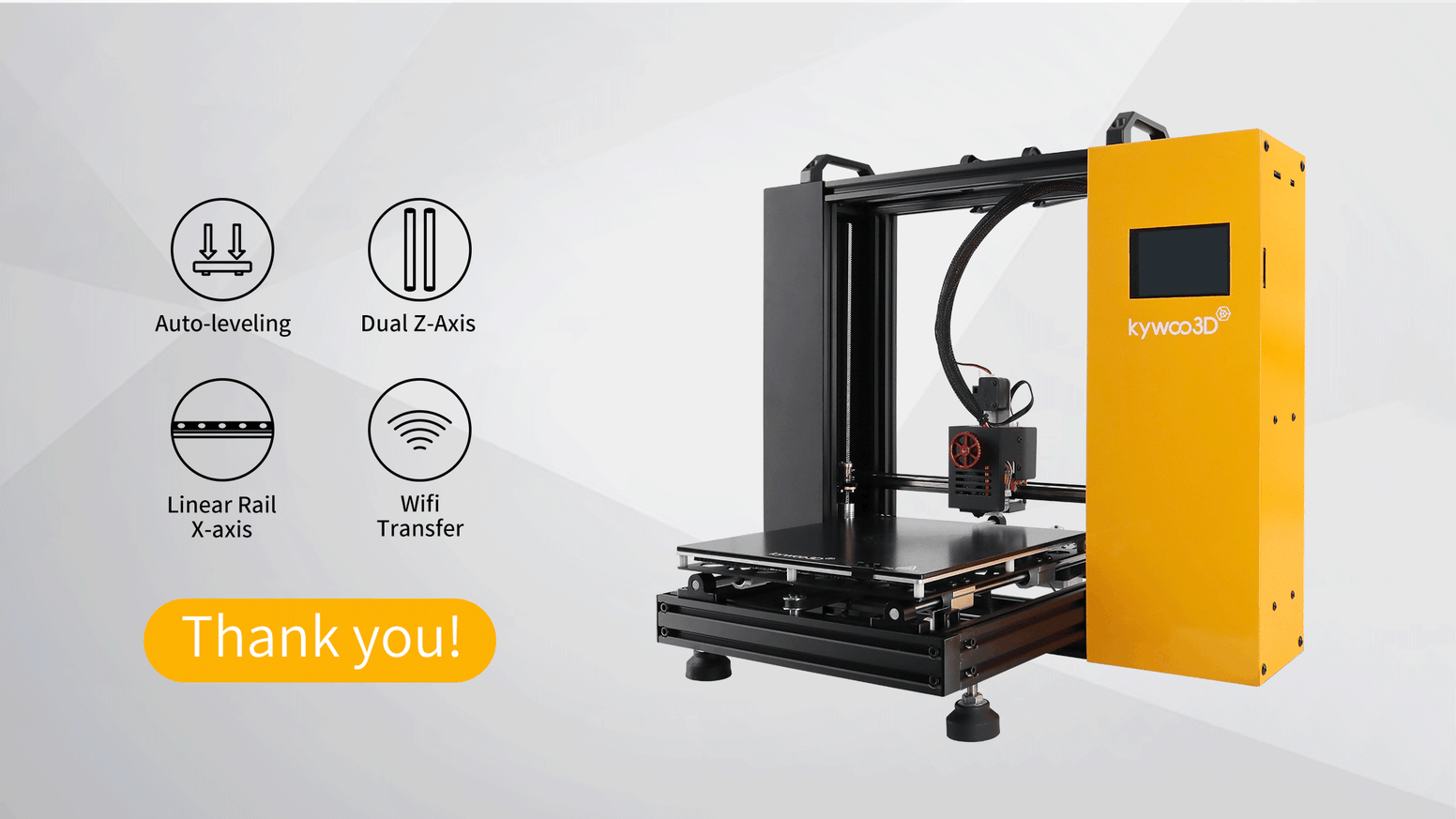 Bring your 3D creations to life with the powerful 3D printer available for hobbyists. Faster, more precise, and more stable.