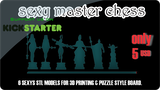 Sexy Master Chess Boardgames - stl files - 3d print ready thumbnail