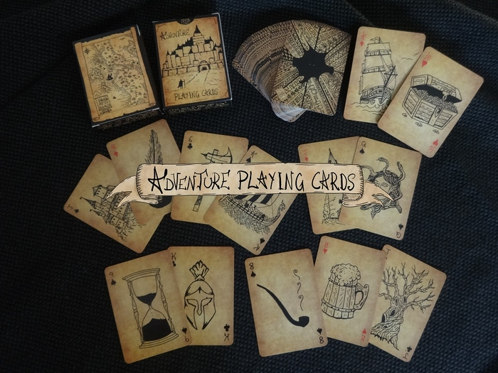 This deck of many things is a collection of 54 different handmade sketches.