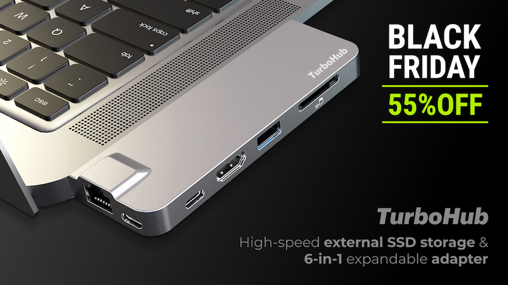 TurboHub: World's Fastest All-in-One SSD & Multiport Adapter