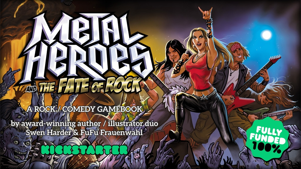 Metal Heroes and the Fate of Rock: A Rock/Comedy Gamebook project video thumbnail