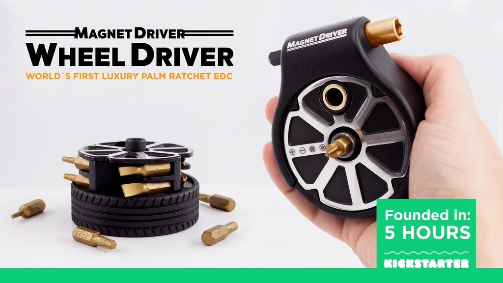 WHEEL DRIVER: WORLD´S FIRST LUXURY PALM RATCHET EDC