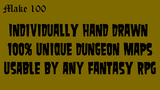 Make 100 - Hand Drawn Unique Dungeon Maps thumbnail