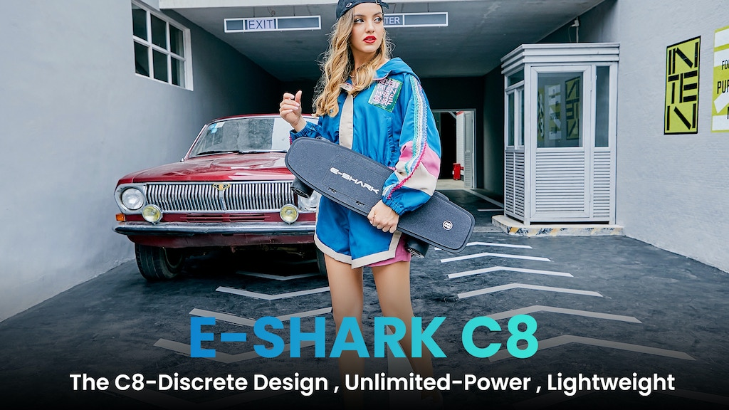 E-SHARK C-8: Ultra-lightweight Electric Skateboard