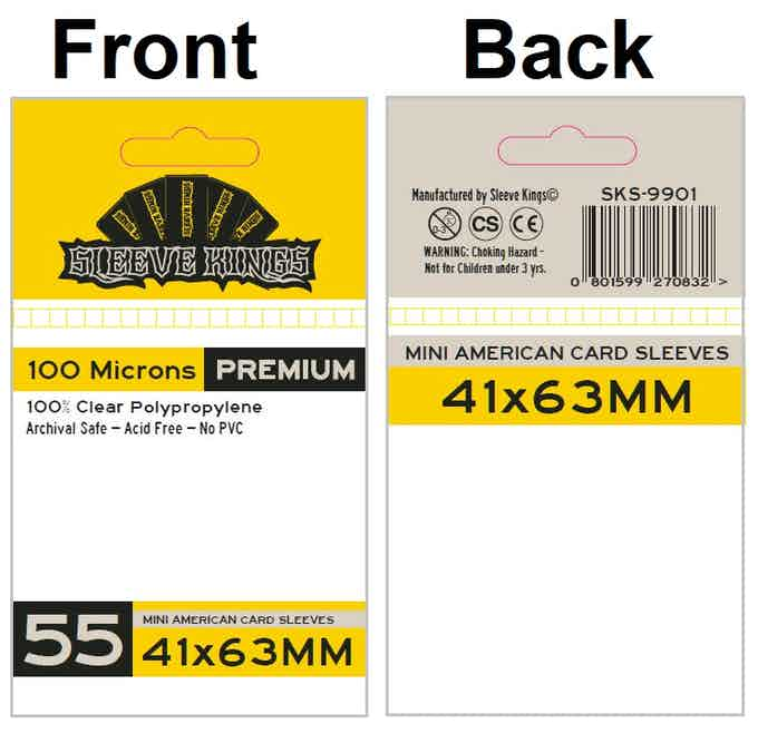 41 X 63 MM Card Sleeves