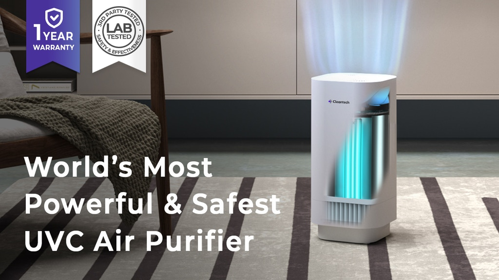 Clean-tech - World's Most Powerful & Safest UVC Air Purifier