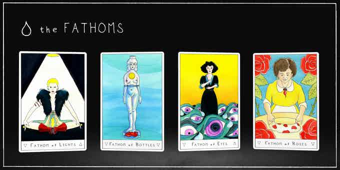 The FATHOMS replace Queens from the Outsider Tarot