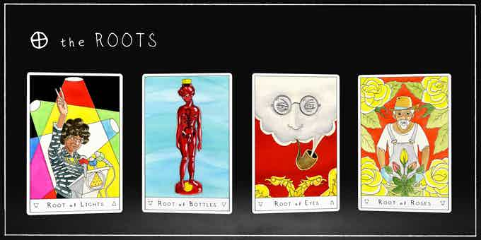 The ROOTS replace Kings in the Outsider Tarot
