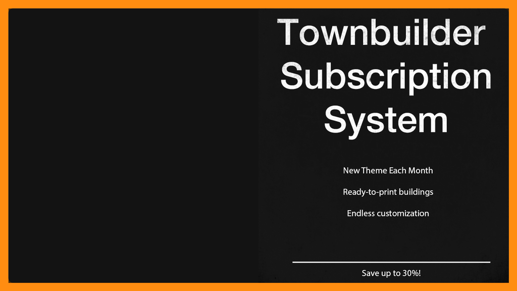 Project image for Townbuilder Subscription System (Canceled)