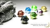 Dragon Scale RPG Metal Dice Set thumbnail