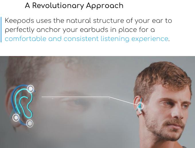 Keepods 耳機防掉固定器