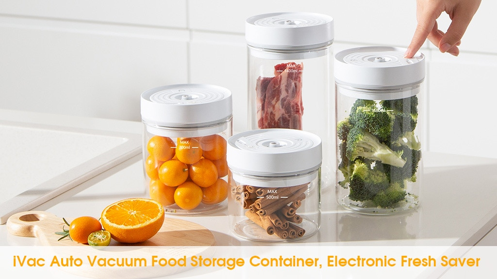 iVac: The Auto Vacuum Food Storage Container, Fresh Saver