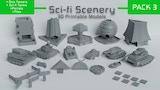 Sci-Fi 3D Printable Tabletop Gaming Models Pack 3 thumbnail