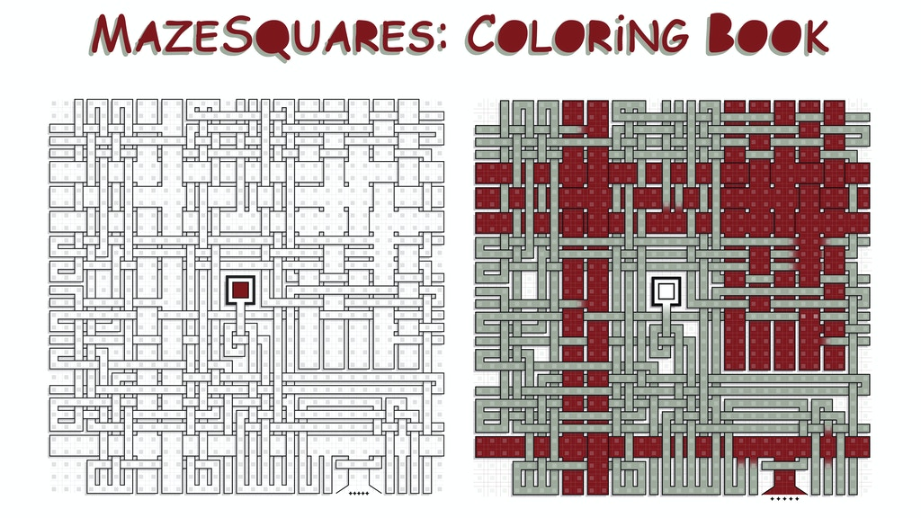 MazeSquares: Coloring Booklet