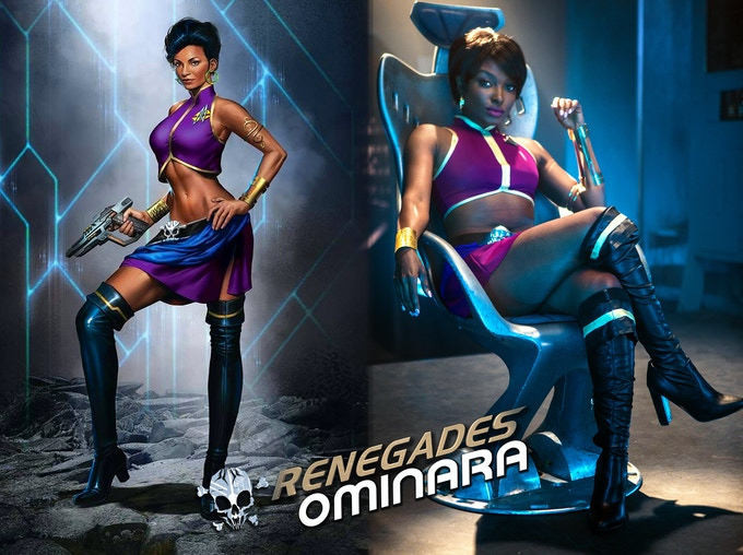 Concept art and Loren Lott as appearing in Renegades Ominara