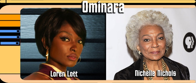 Loren Lott and Nichelle Nichols play the character Ominara at different ages