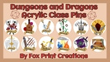 Dungeons and Dragons Acrylic Class Pins thumbnail