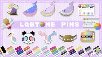 Pride Flag Hard Enamel Pins! LGBT Pantone & Punny Designs