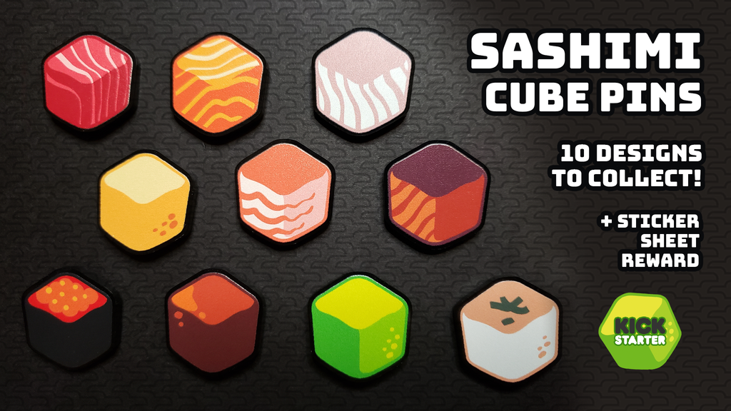 ⬡ Sashimi Cube Pins ⬡ project video thumbnail