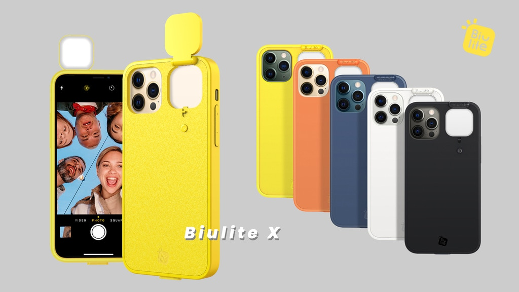 Biulite—Phone case with foldable selfie light