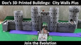 Doc's 3D Print Buildings for Tabletop Gaming-City Walls Plus thumbnail