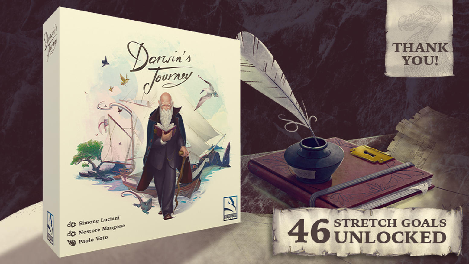Retracing Darwin's journey to the Galapagos in an exciting Worker Placement euro game by Simone Luciani and Nestore Mangone.