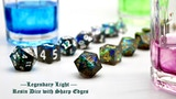 Legendary Light - Resin Dice with Sharp Edges thumbnail